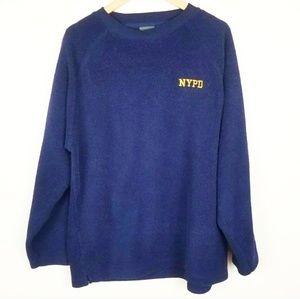 Vintage NYPD Fleece Crewneck Sweater Size Large